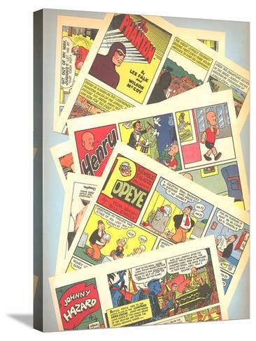 Classic Comic Books--Stretched Canvas Print