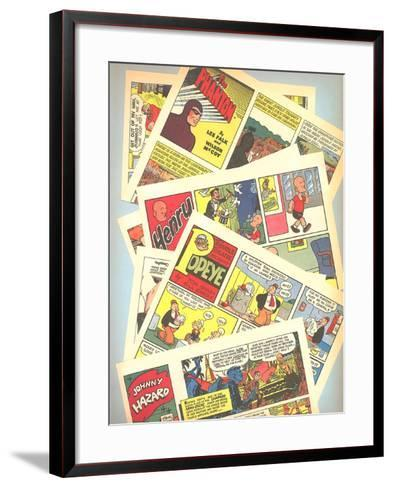 Classic Comic Books--Framed Art Print