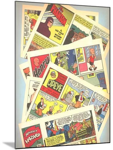 Classic Comic Books--Mounted Art Print