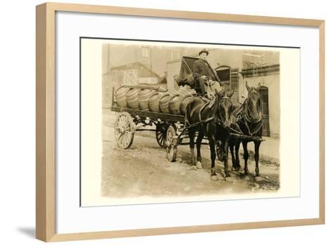 Beer Barrel Wagon--Framed Art Print