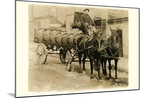 Beer Barrel Wagon--Mounted Art Print
