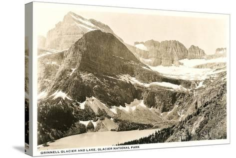 Grinnell Glacier and Lake--Stretched Canvas Print