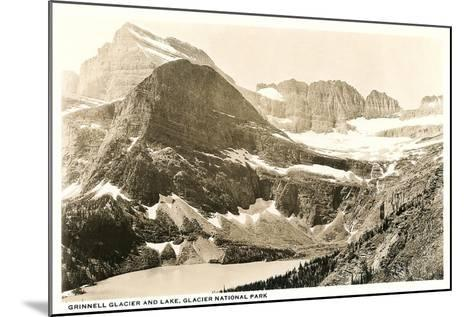 Grinnell Glacier and Lake--Mounted Art Print