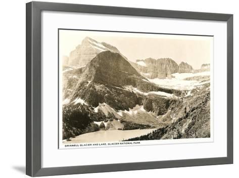 Grinnell Glacier and Lake--Framed Art Print