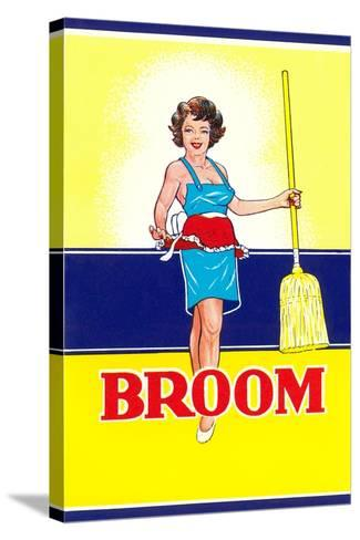 Broom Label, Sexy Housewife--Stretched Canvas Print
