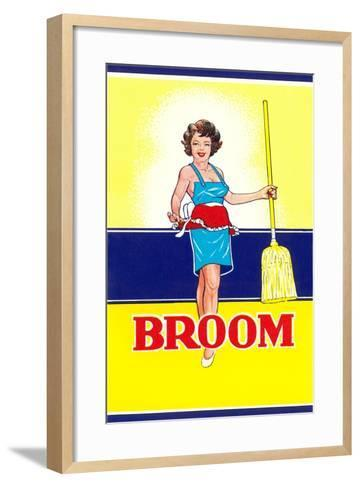 Broom Label, Sexy Housewife--Framed Art Print