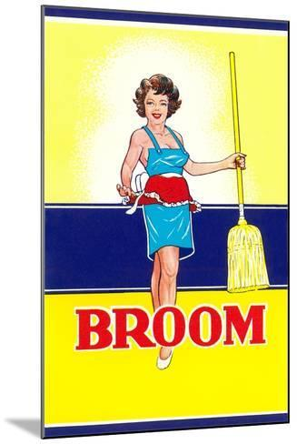 Broom Label, Sexy Housewife--Mounted Art Print