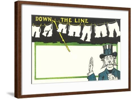 Down the Line, Bloomers--Framed Art Print