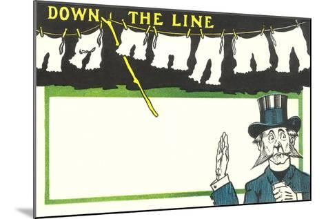 Down the Line, Bloomers--Mounted Art Print