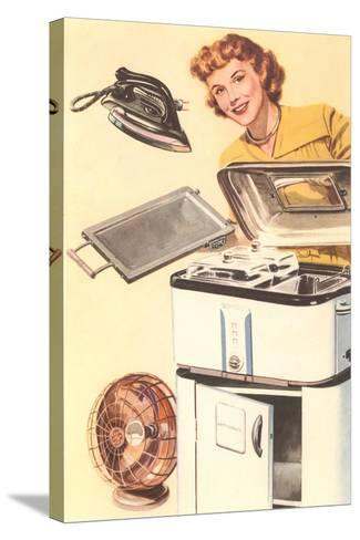 Housewife and Appliances--Stretched Canvas Print