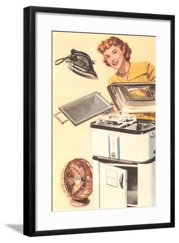 Housewife and Appliances--Framed Art Print