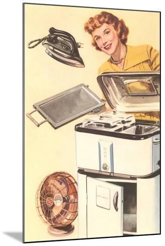 Housewife and Appliances--Mounted Art Print