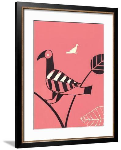 Bird with Leaf Wing--Framed Art Print