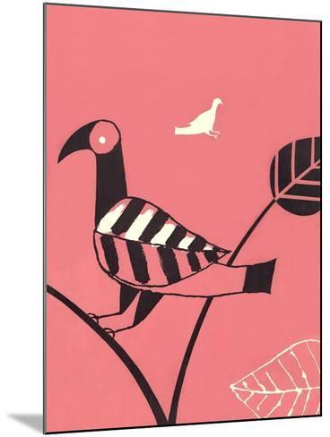 Bird with Leaf Wing--Mounted Art Print