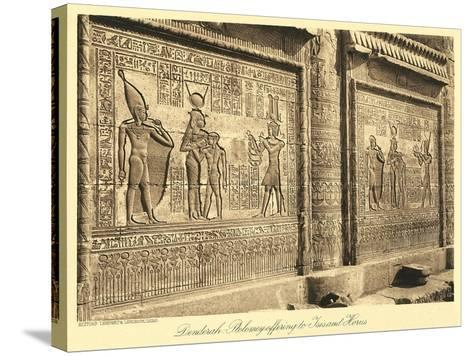 Bas Relief at Denderah Temple--Stretched Canvas Print