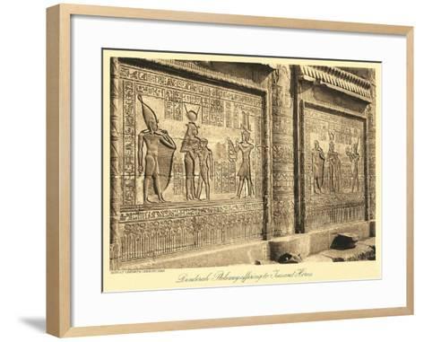 Bas Relief at Denderah Temple--Framed Art Print