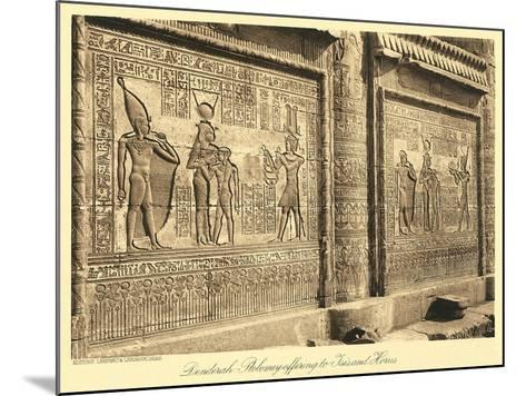 Bas Relief at Denderah Temple--Mounted Art Print