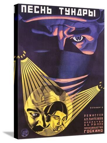 Russian Adventure Film Poster--Stretched Canvas Print
