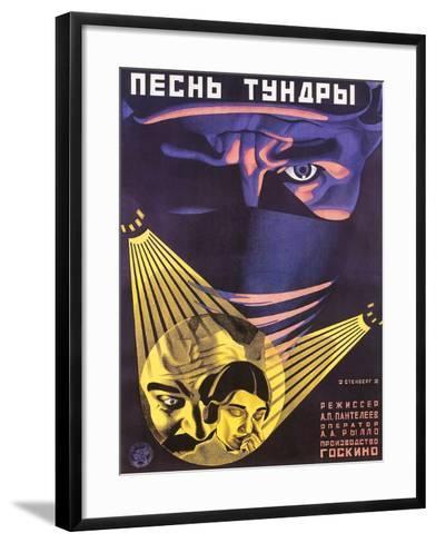 Russian Adventure Film Poster--Framed Art Print