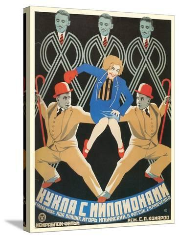 Russian Dancers Film Poster--Stretched Canvas Print