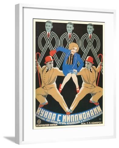 Russian Dancers Film Poster--Framed Art Print