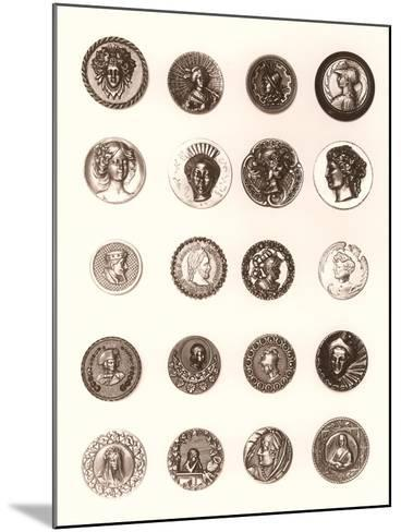 Button Collection--Mounted Art Print