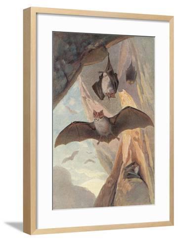 Bats in Cave--Framed Art Print
