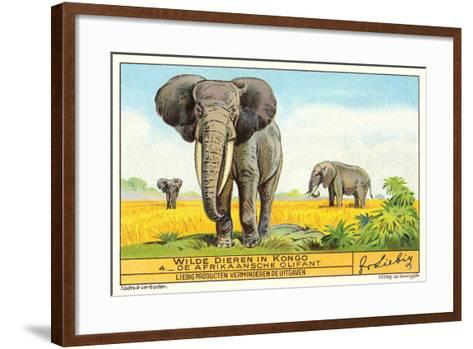 Elephants in the Congo--Framed Art Print