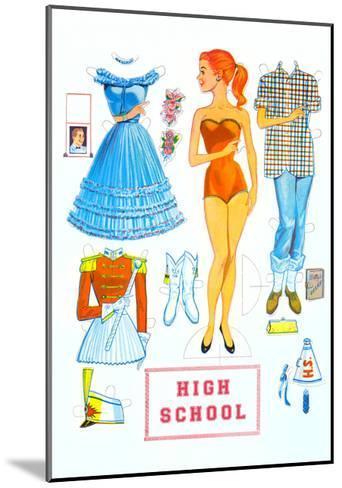 High School Paper Doll--Mounted Art Print
