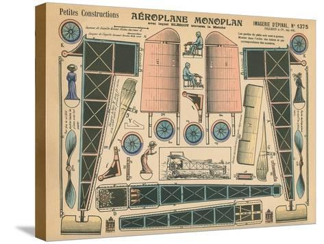Aeroplane Monoplan--Stretched Canvas Print