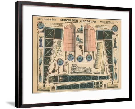 Aeroplane Monoplan--Framed Art Print