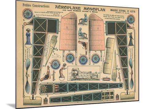 Aeroplane Monoplan--Mounted Art Print