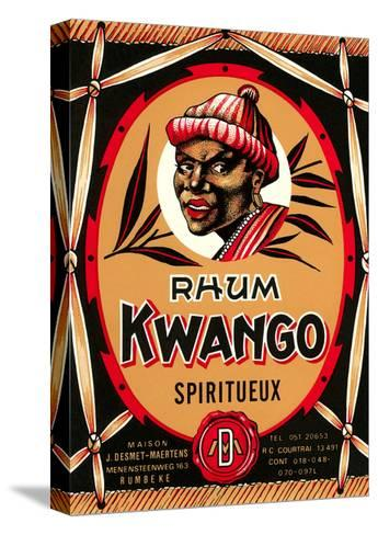 Rhum Kwango Label--Stretched Canvas Print