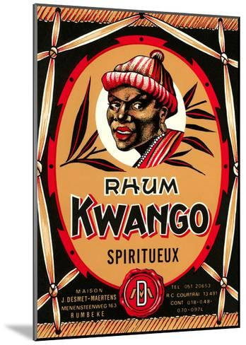 Rhum Kwango Label--Mounted Art Print