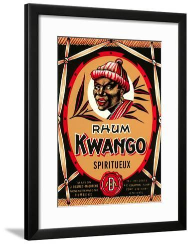 Rhum Kwango Label--Framed Art Print