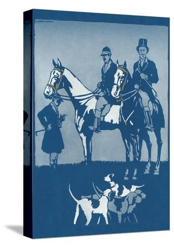 Riding to Hounds Poster--Stretched Canvas Print