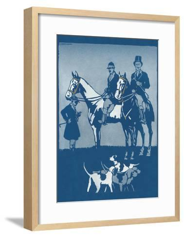 Riding to Hounds Poster--Framed Art Print