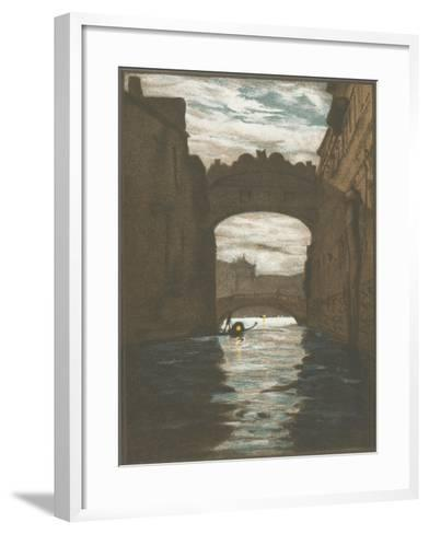 Bridge of Sighs, Venice--Framed Art Print