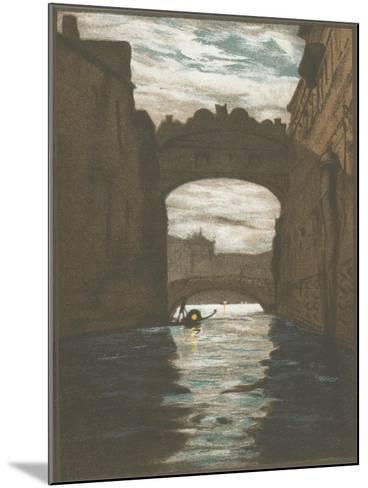 Bridge of Sighs, Venice--Mounted Art Print