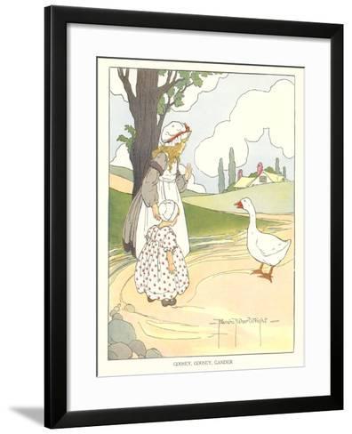 Goosey, Goosey Gander--Framed Art Print