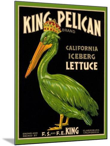 Green Pelican Crate Label--Mounted Art Print