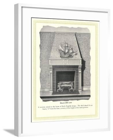 Mantel Treatment--Framed Art Print