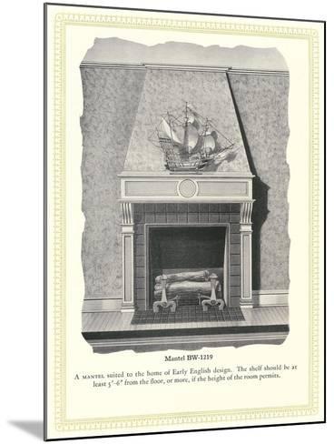 Mantel Treatment--Mounted Art Print
