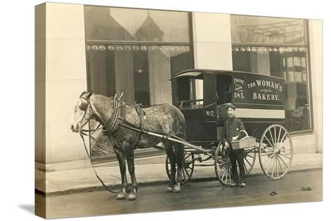 Horse-Drawn Bakery Wagon--Stretched Canvas Print