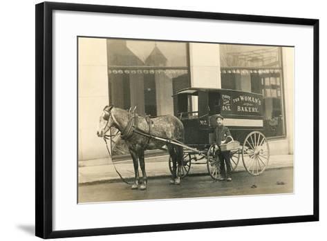 Horse-Drawn Bakery Wagon--Framed Art Print