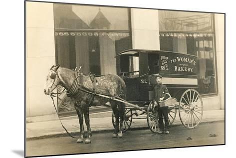 Horse-Drawn Bakery Wagon--Mounted Art Print