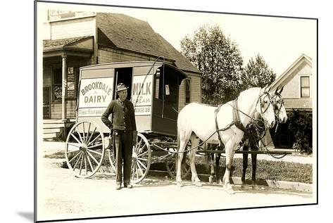 Old Fashioned Milk Wagon--Mounted Art Print