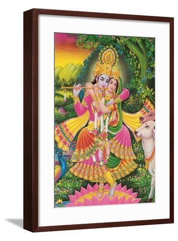 Krishna and Radha--Framed Art Print