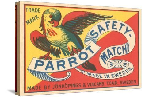 Match Box with Parrot--Stretched Canvas Print