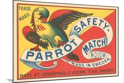 Match Box with Parrot--Mounted Art Print